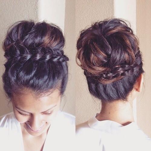 braid-wrap-around-crown-bun