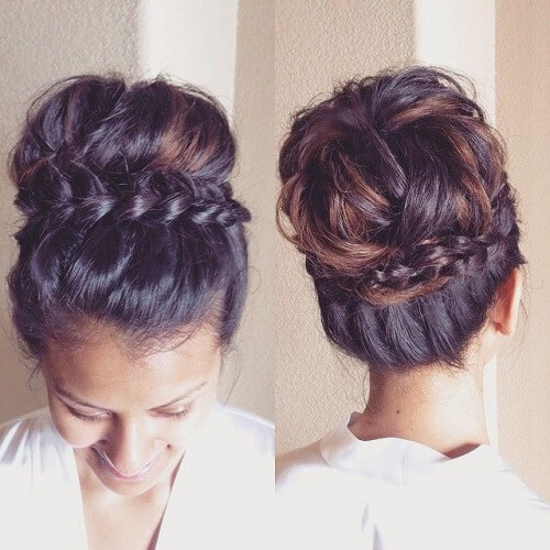 braid-wrap-around-crown-bun